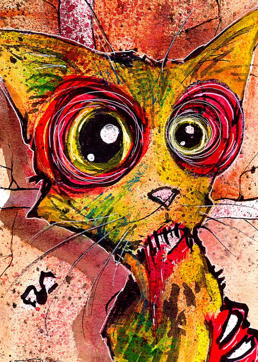 #Free drops happening here for this #cute #Zombie #Cat #nft  Do you #WAX on #Atomichub?
