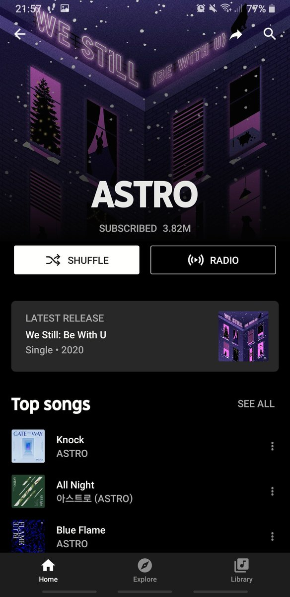 AND HERE ASTRO ISNT CONFUSED WITH A RANDOM ASS RAPPER @SpotifyKDaebak