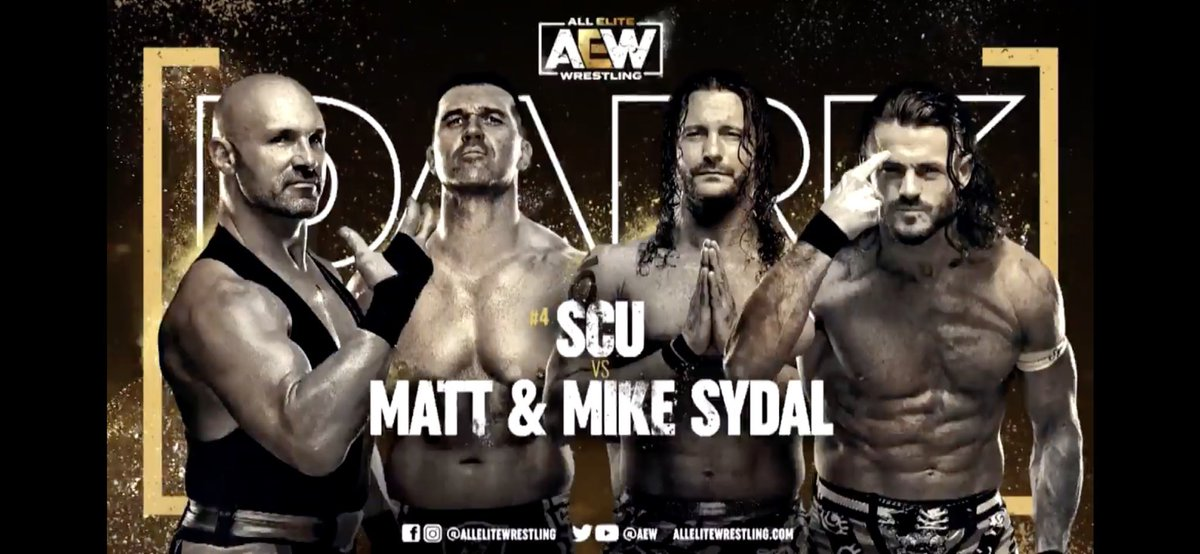 I was ROH Tag Team Championship with one of these guys, backyard wrestled with another, and admire the hell out of the other.  Thank you @AEW for this match! It's gonna be SYDELIC ! #AEWDark #sydelic #sydojo #wrestling #prowrestling #florida #tampa #Clearwater #stlouis #kcmo