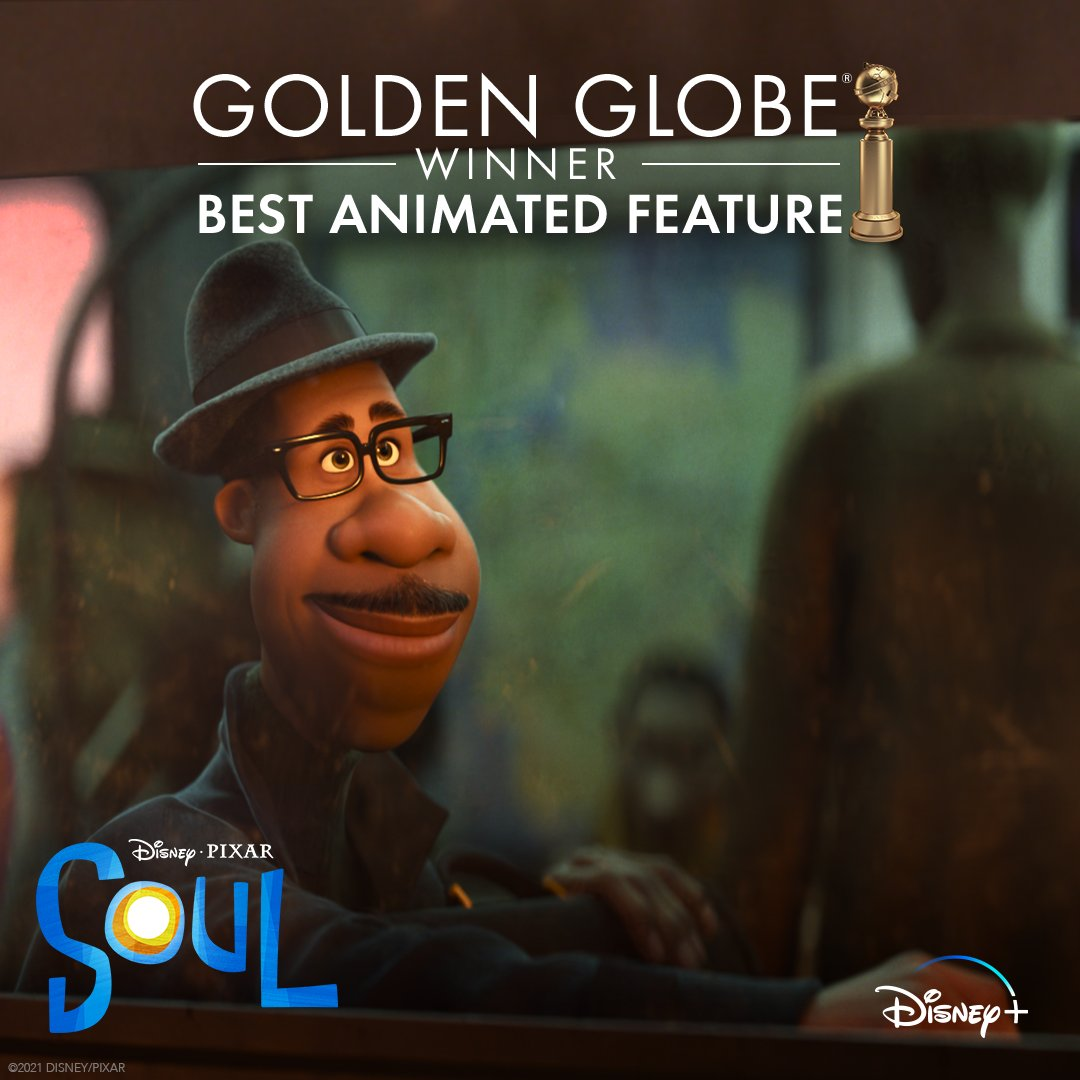 Congratulations to the cast and crew of #PixarSoul for their #GoldenGlobes win for Best Animated Feature!
