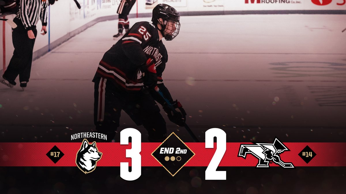 #HowlinHuskies put up three in the period and lead after two...  McDonough one goal and two assists for 7 goals and 11 points in February alone and 10 goals overall...  Solow with a pair of goals and an assist for 10 goals and 23 points on the season...