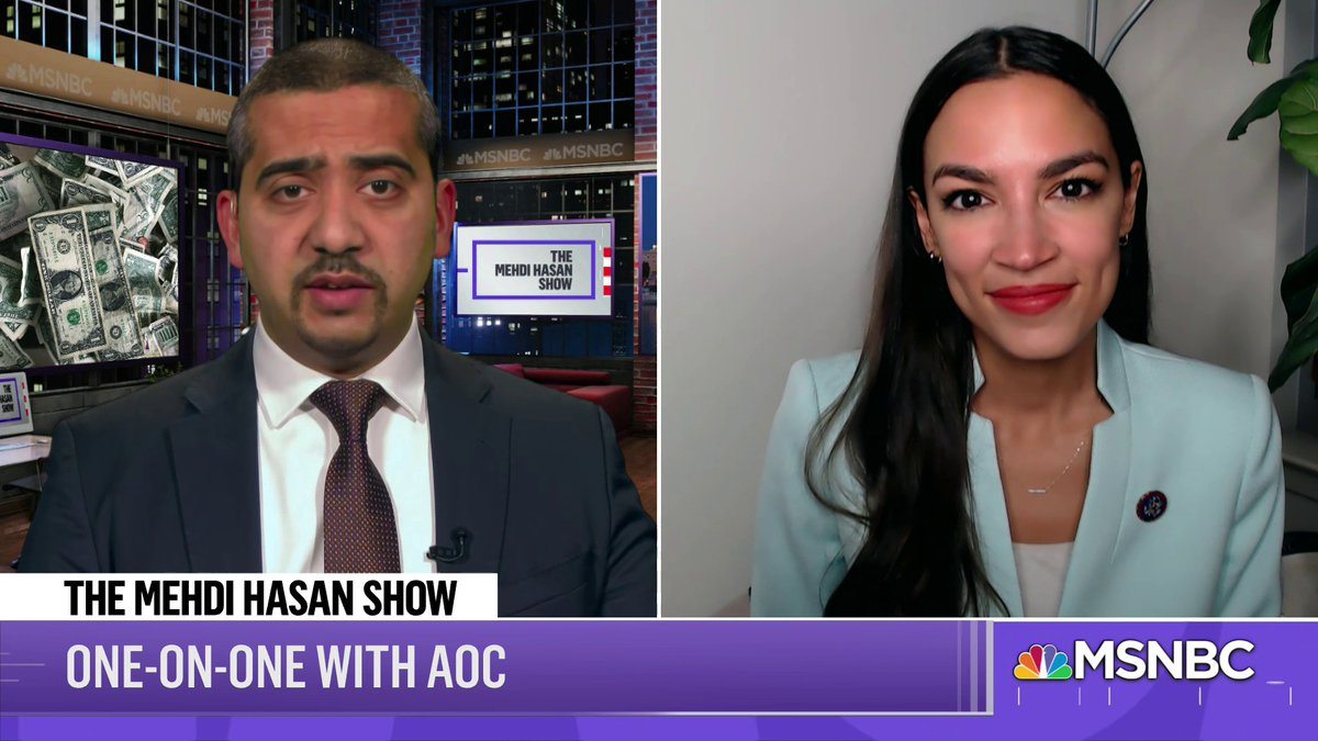 """""""I do believe that we should override the parliamentarian. I think...that our constituents and people across this country put Democrats in power to, among many other things, establish a $15 minimum wage.""""  @aoc to me on @MSNBC's @MehdiHasanShow debut today"""