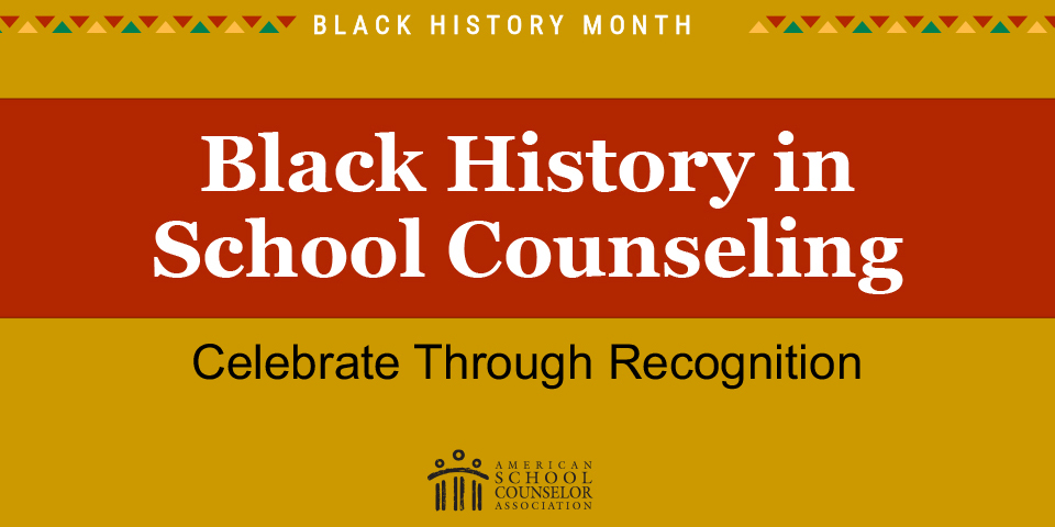 As Black History Month comes to a close, we'd like to take another opportunity to celebrate the significant contributions Black school counselors have made to the profession. Thanks to all the members who contributed to this list. #BlackHistoryMonth