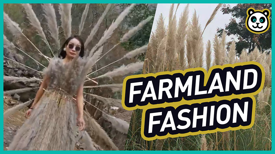"See the most ""natural"" fashion show in #China. #fashion #nature #creative"