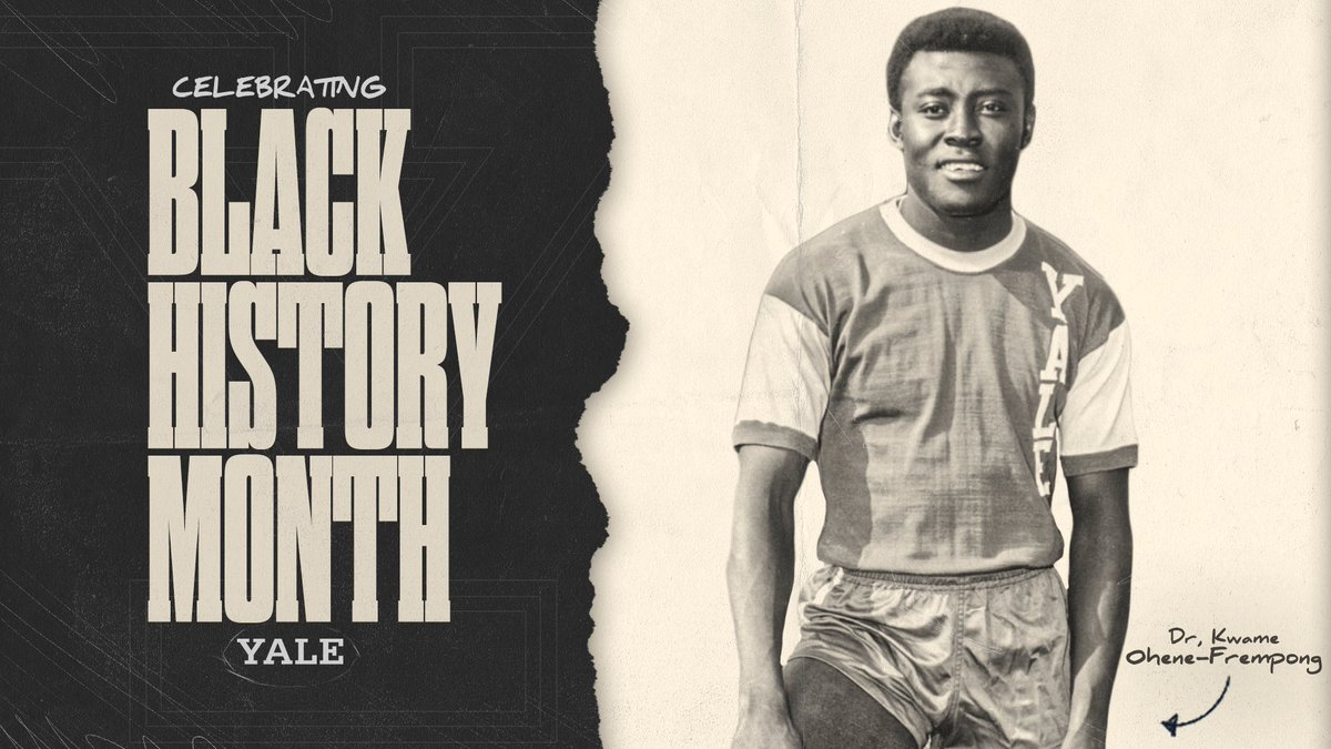 On this final day of February we want to honor one of the most elite S-As in @YaleAthletics & @IvyLeague history, Dr. Kwaku Ohene-Frempong. An outstanding member of YMS & a star for @YaleTF_XC please read here:    #BlackHistoryMonth  #BlackHistoryAlways✊🏿
