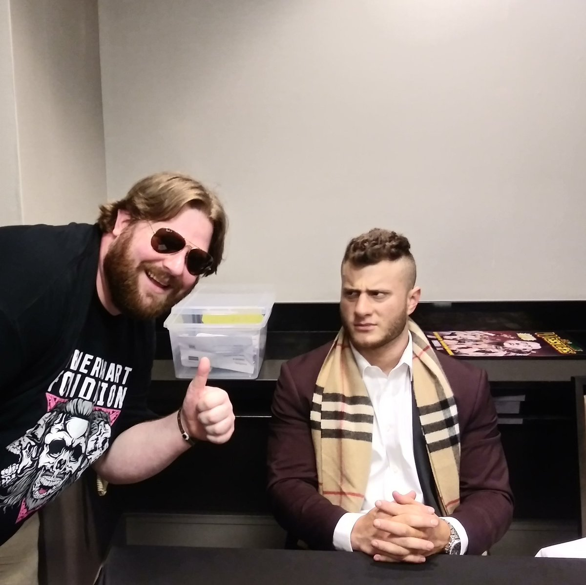 @TheArnShow @The_MJF @Sportskeeda @SKWrestling_ I was 3 feet away when it happened because my meet and greet was just before this. It was great and the guy in the wheelchair loved every second. Me personally, if he was nice to me I would've been disappointed. He was not nice  😁