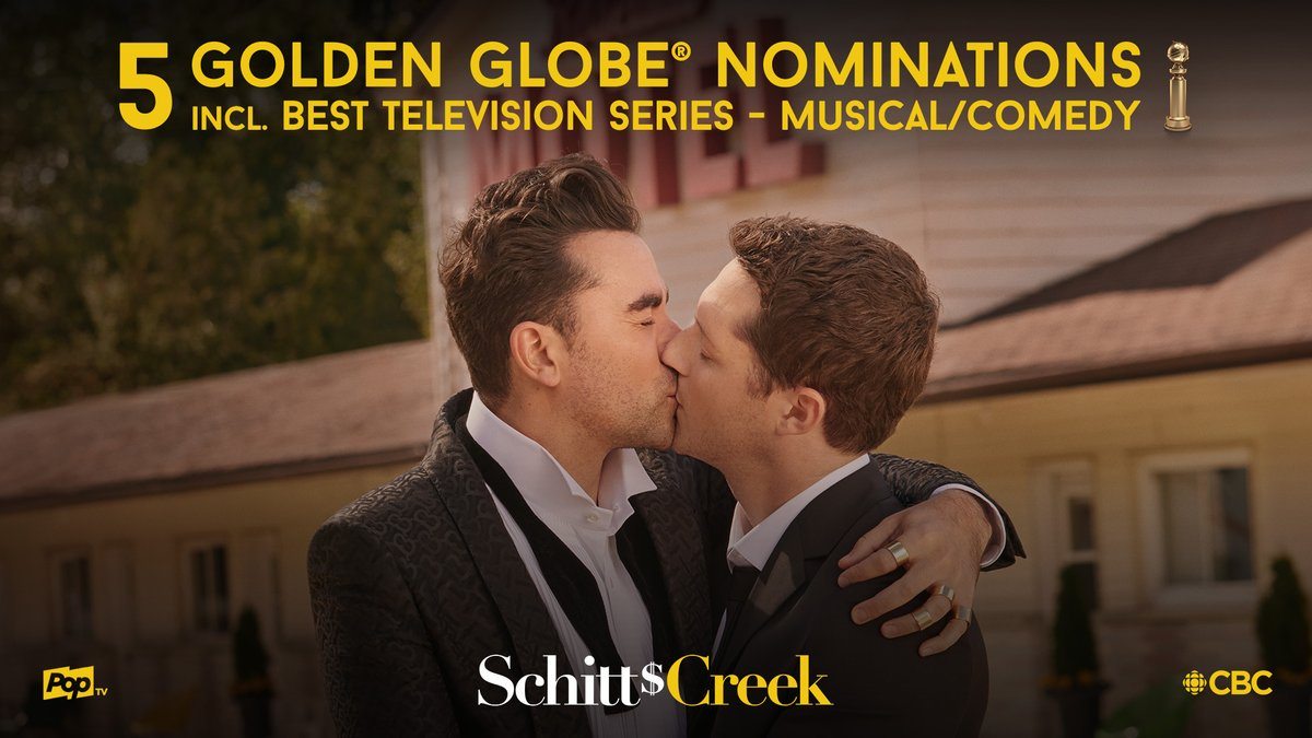 .@SchittsCreek, your @CBCRadioCanada family is proudly cheering you on!   #GoldenGlobes2021 https://t.co/JwwykTwZhT