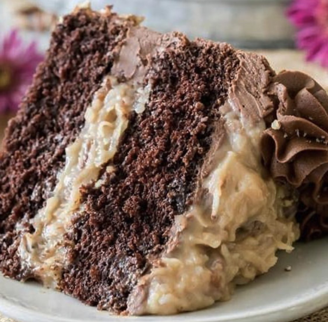 This cloudy weather calls for a slice of German Chocolate Cake. 🍰 Who's calling @UberEats? #DallasWestEnd #supportlocal #food