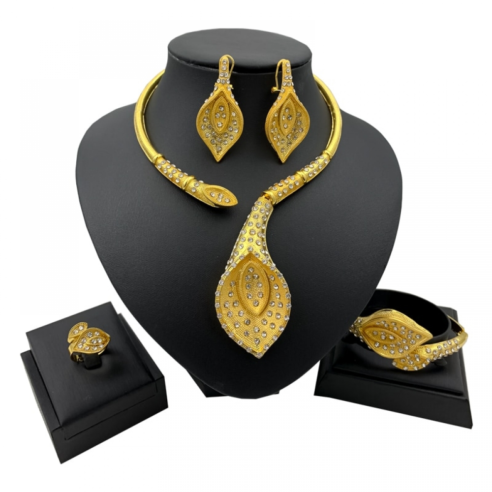 #online #shopping #market #electronics4 #pets #fitness #home #personal #beauty #bags #mobile #camera #jewellery #car #books #toys #kids #fashion New African Jewelry Sets for Women Y Necklace Bangle Earrings Ring Luxurious Dubai Gold Jewellery Set