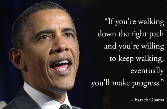 If you're walking down the right path. #BarackObama #Quotes #SundayThoughts #SundayMotivation #WeekendWisdom #BlackHistoryMonth