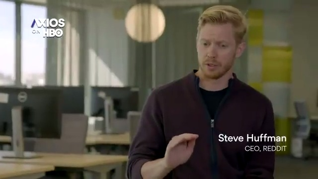 """Reddit CEO Steve Huffman on the future of office life:   """"We're reimagining this office as more of a collaborative space. …Think a coffee shop where people can come as individuals or as teams, they can work here as much or as little bit as they like."""" #AxiosOnHBO"""