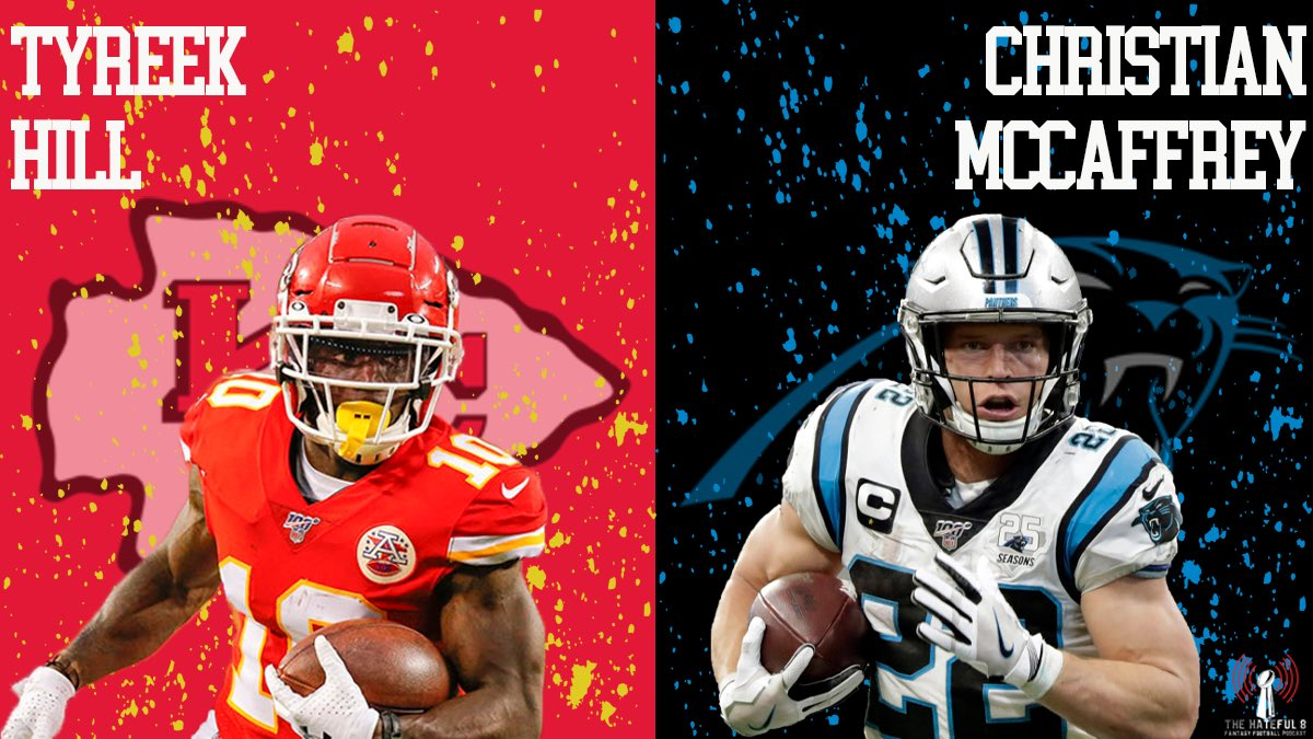 We know in the #FantasyFootball community some people want a Top Tier RB over a Top Tier WR or vice versa. So we want to know would you rather have Christian McCaffrey (#KeepPounding) or Tyreek Hill (#ChiefsKingdom) and build around them?