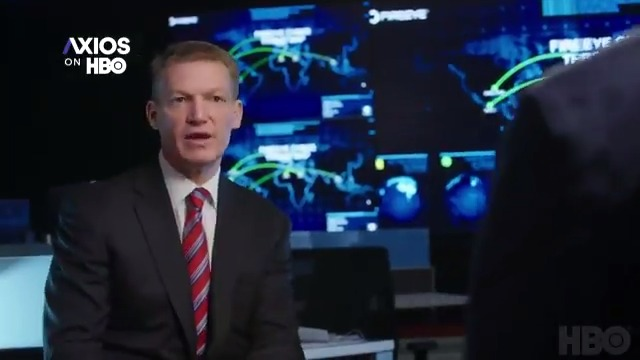 """Kevin Mandia, CEO of cybersecurity firm @FireEye, to @AxiosNick: """"It's as simple as if you can be hacked, you are hacked ... we're playing goalie and there are slap shots comin' at us every millisecond.""""  #AxiosOnHBO is now streaming on @HBOMax."""