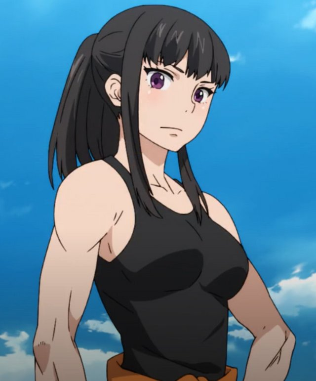 """Appreciation post time, featuring best girl from Fire Force, Maki Oze.  Gotta show some love to our favorite """"cyclops gorilla""""❤❤ #FireForce @SJMonsteR"""