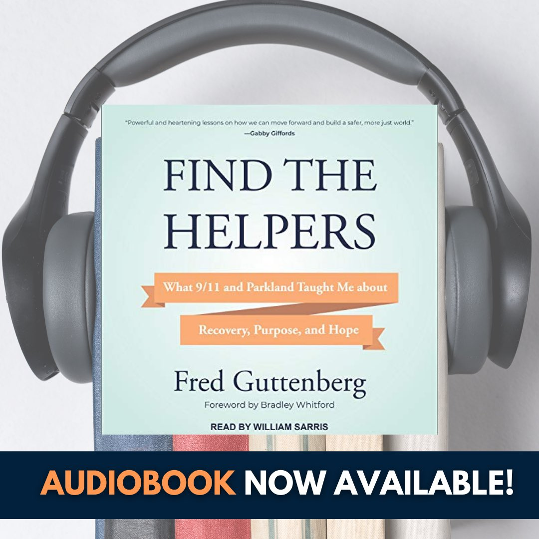 Many have asked and now my book Find The Helpers is now available as an audio book.  Foreword by @BradleyWhitford.    Link to purchase: