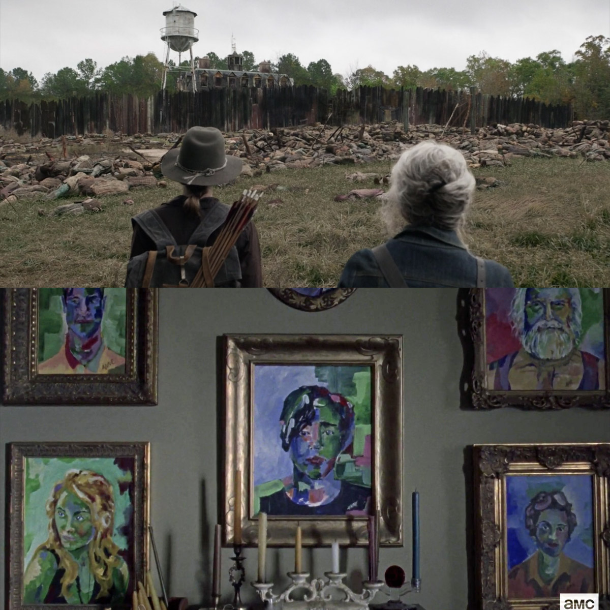 What Maggie (likely) sees when she looks at the ravaged Hilltop. #TheWalkingDead