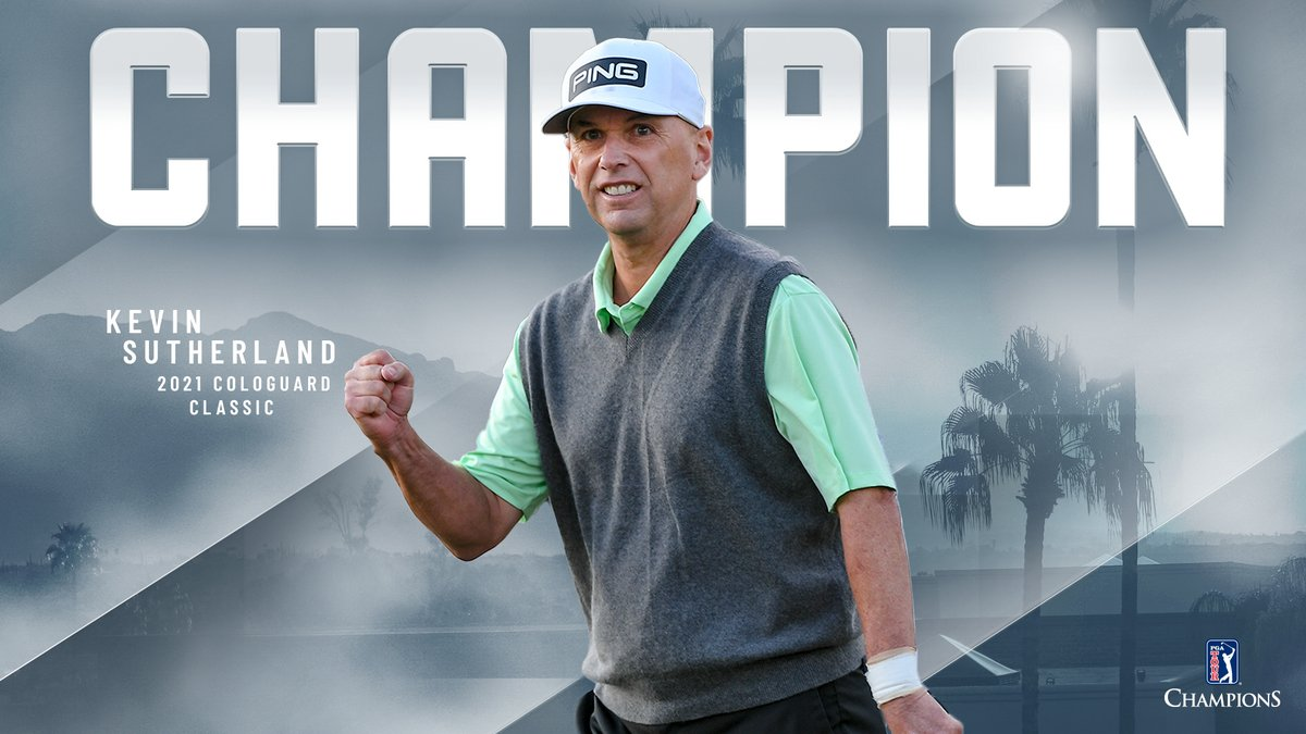 Talk about a strong finish! 💪  Kevin Sutherland secures his fifth PGA TOUR Champions win @CologuardGolf. 🏆