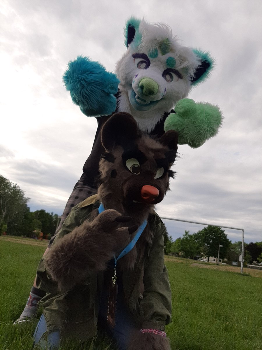 I can do a really late throwback #fursuitfriday right??? Post covid hang outs with @steve_sleeping  #furry #fursuit #fursuiter