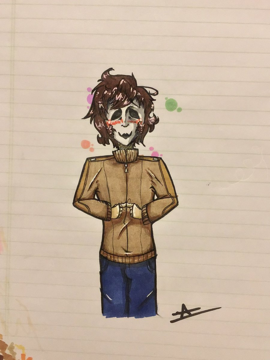 """Double Post Because I'm Bored :/ Old """"Re-Draw""""/""""My Style"""" Of Masky From @MadameMacabre 's """"The Seer"""" Comic (It's Ollldddd) #creepypasta #masky #theseer #redraw #mystyle #traditionalart #blush #cute #crush #comic  Oh And Yes, I Am Having Fun With The Stickers 🥸"""