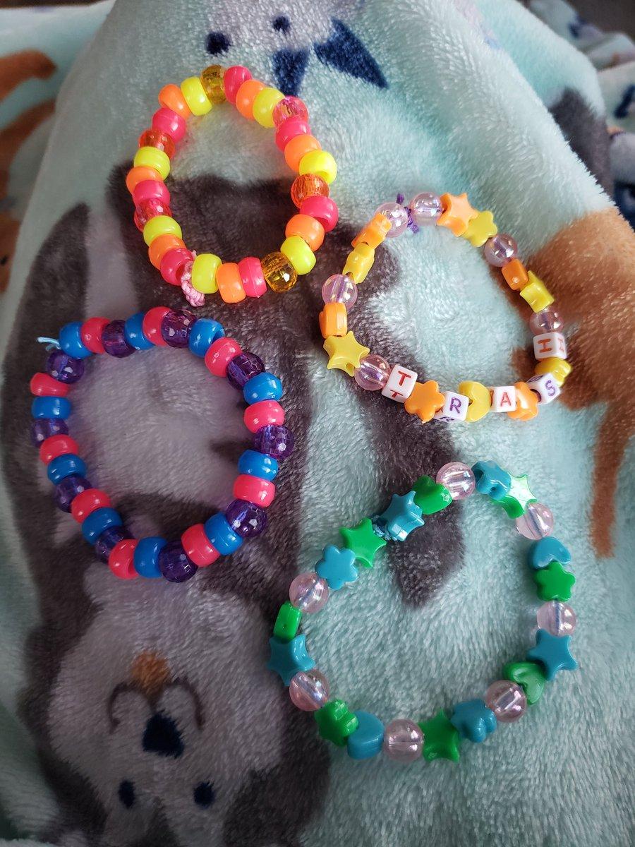Started making some #kandi 💖💖 - #rave #ravegirl #art #jewelry #beads #bracelet #cute #kawaii #jfashion #commissions #candy