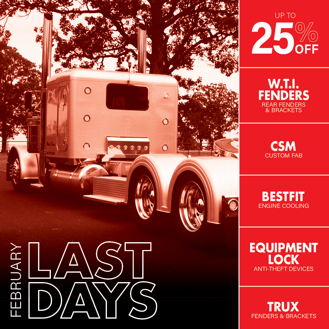 Last day to get these Steals & Deals! Click here to shop now!  Sale Ends today 02/28/2021 @ 11:59 PM CST!   #4StateTrucks #ChromeShopMafia #chrome #chromeshop #customtrucks #semitrucks #trucking #customrig #bigrig #largecar #cdldriver #truckers #diesel