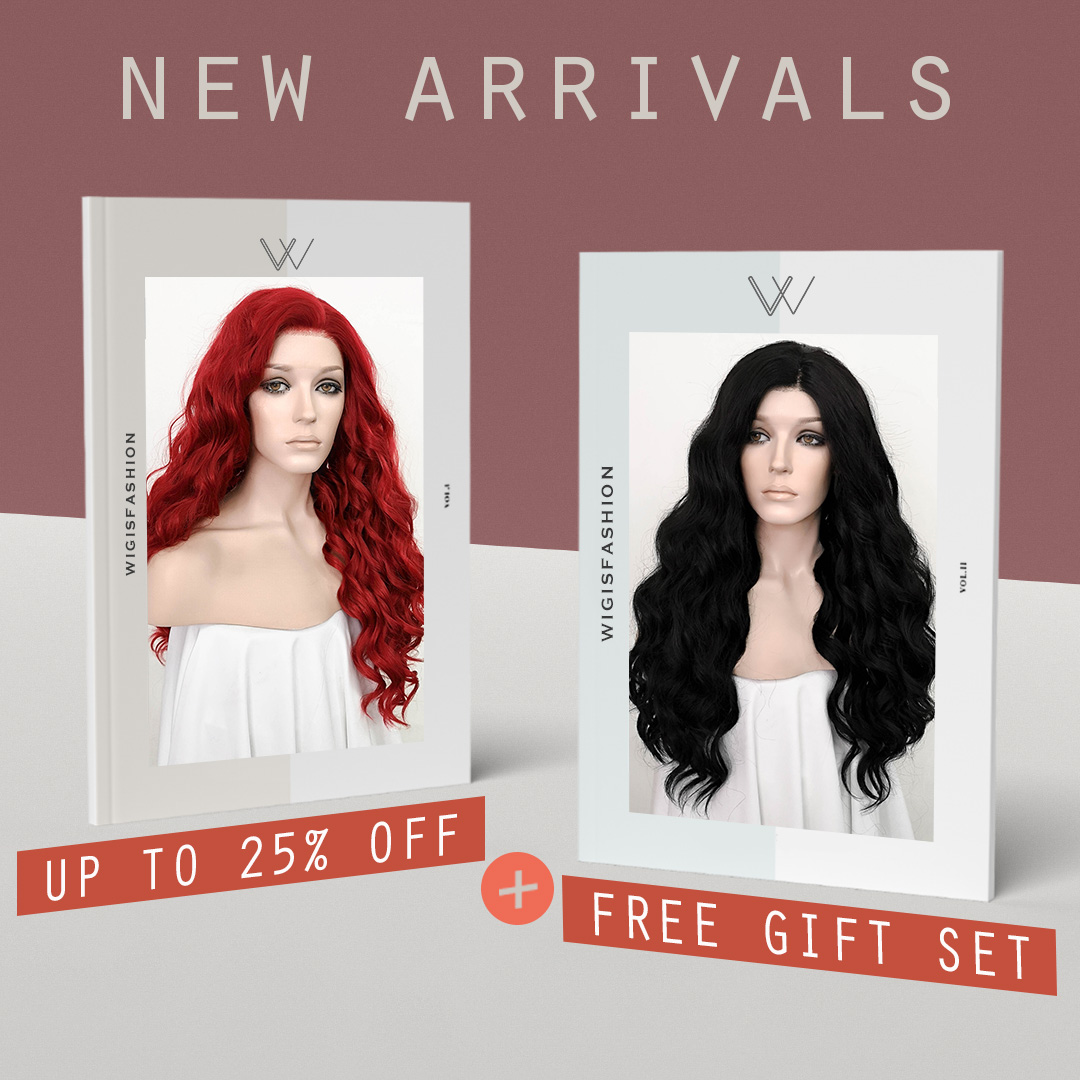❤️#Wigisfashion new arrrivals up to 25% and free gift set🎁 Check it now! 👉👉  #new #lacefrontwig #syntheticwig #wig #fashion #beauty #sale #fashionstyle #hairstyle #haircolor #redhair #red #black #blackhair #cosplay #drag #gothic #curlyhair #cute