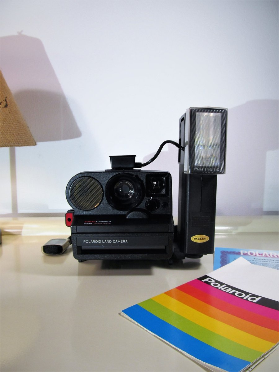 Polaroid Camera Sonar Autofocus 5000 Black color Instant Land Camera SX-70 type instant film with Flash, Instruction Manual and Soft Case  #Mothersday #FREESHIPPING #Clothes #lockdown #Vintage #SPRING #Wedding #CameraPolaroid1000