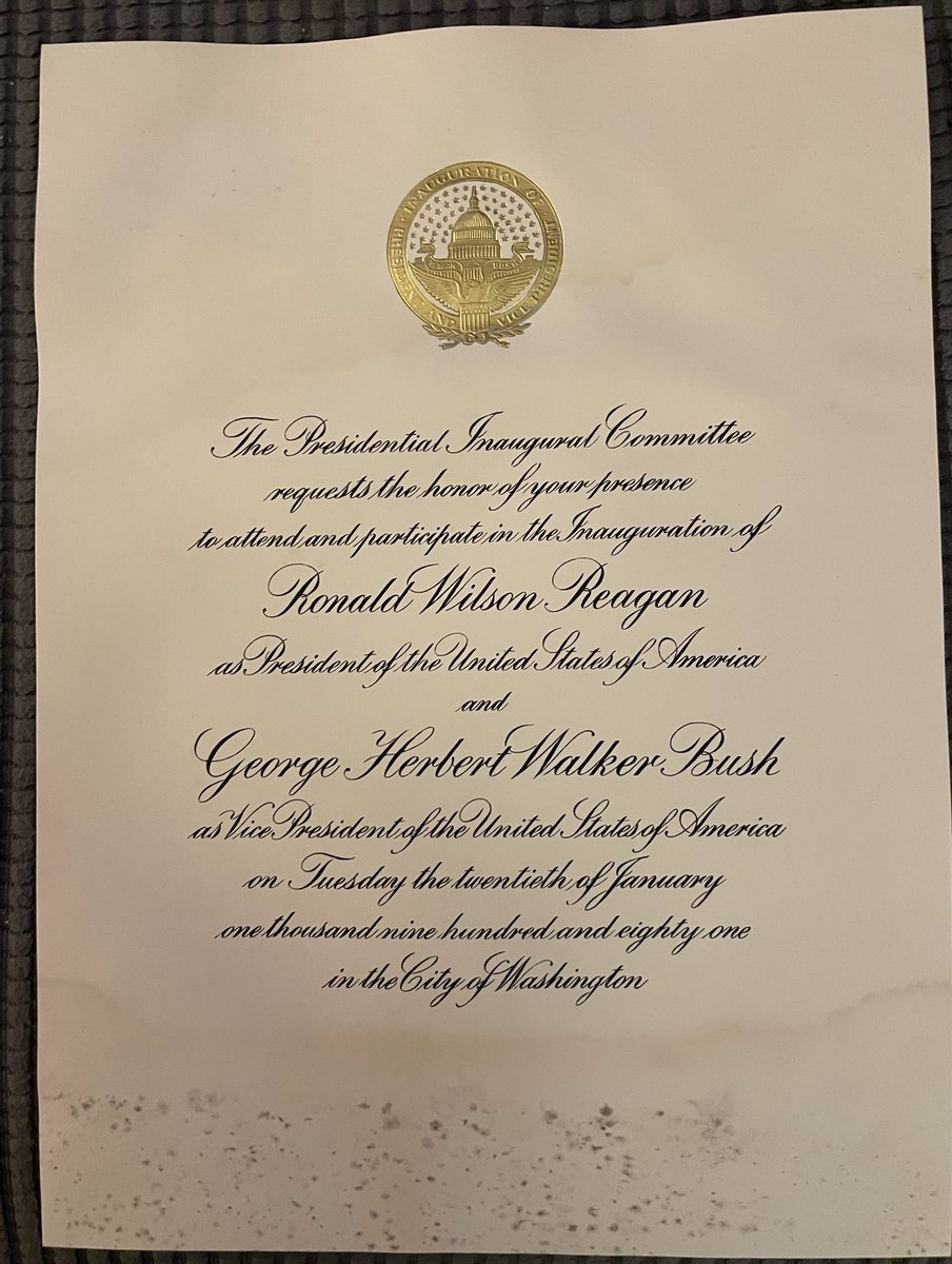 @POTUS @WhiteHouse  I found these in a box in my attic. They're original invitations to Presidents Nixon and Ronald Reagan's inaugurations. (Both, first terms) Does anyone care about these? ($ ?) They're not mint, but I think they're pretty good. #Reagan #Nixon #Inauguration