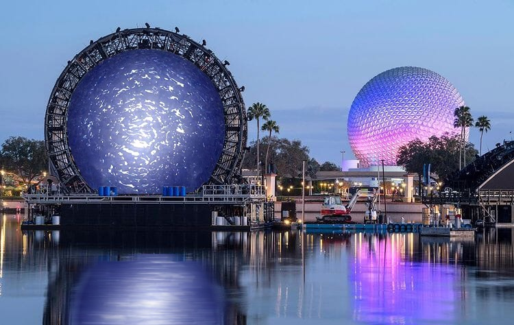 Looks Disney is continuing its testing of the new Stargate at Epcot. #couldnotwaitforApril1 #justkidding  #Disney #Epcot