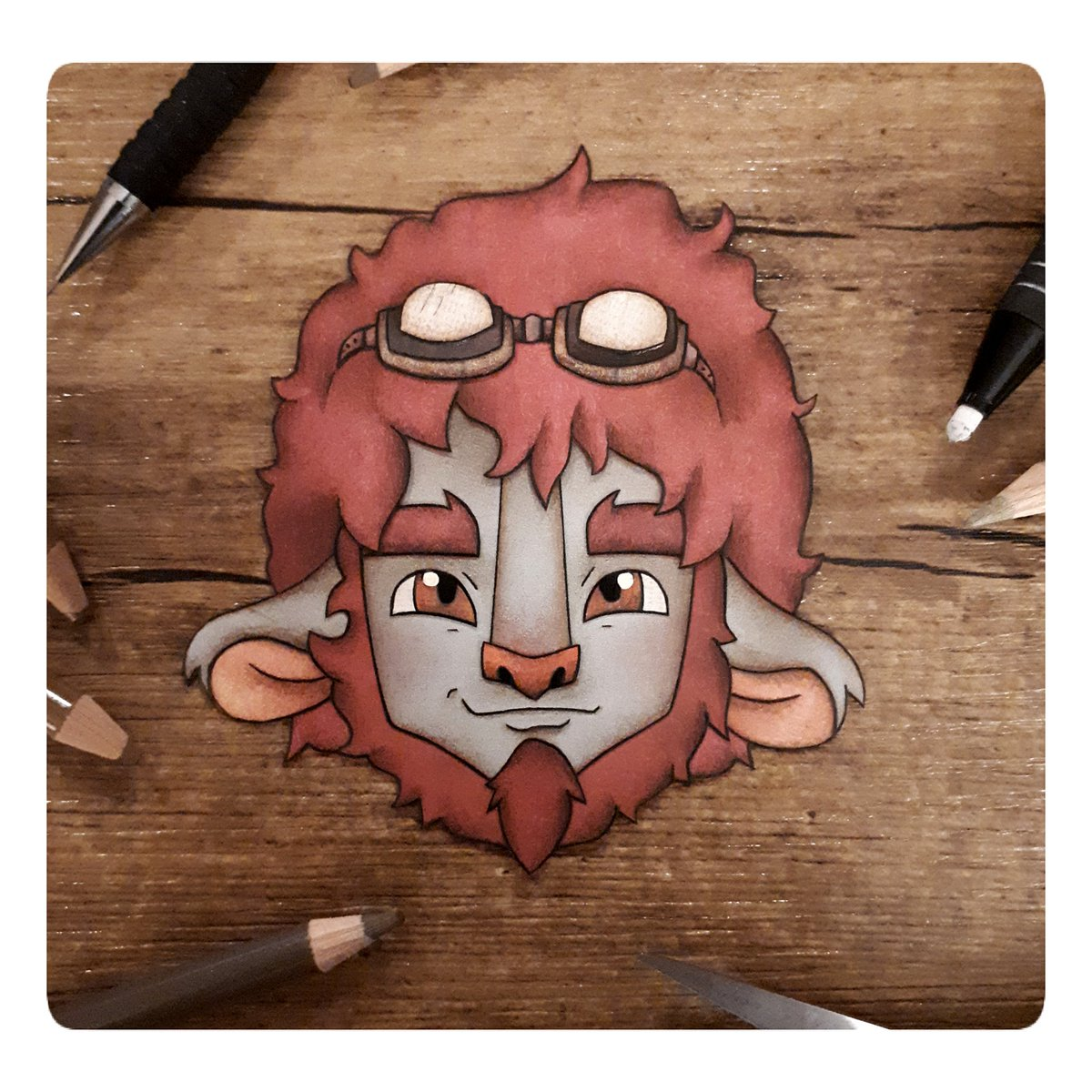 Pumat Prime illustration ready to be turned into pins! Will be available soon! #criticalrolefanart #CriticalRoleArt #pumatsol #pumatprime #papercollage #collageartist #MightyNein #CriticalRole