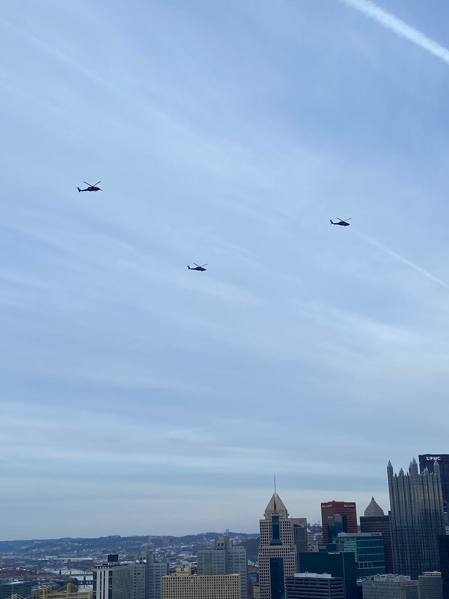 Choppers up above