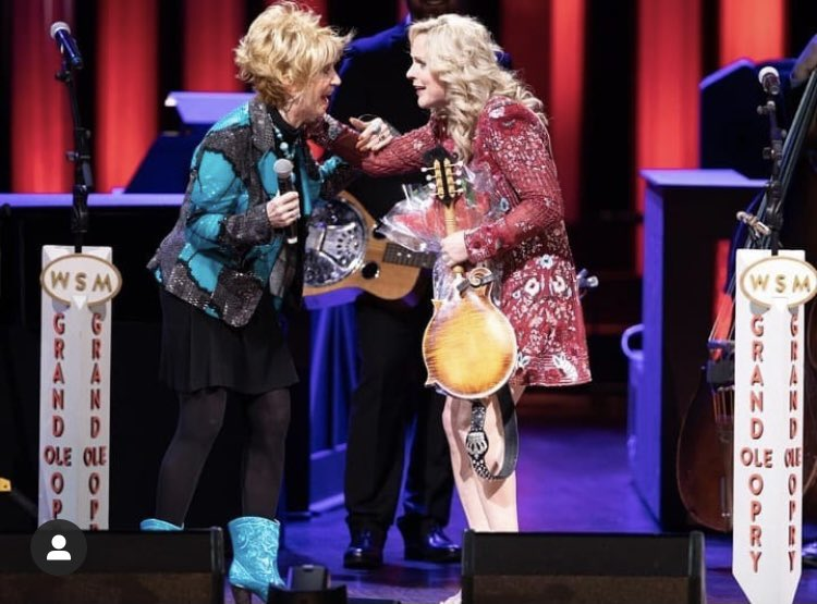 """ONE YEAR AGO - Grand Ole @Opry Invitation February 28, 2020 The moment Jeannie Seely said the words that made a life long dream come true, """"How would you like to be a member of the Grand Ole Opry?""""  #RhondaVincent #Opry #Invitation"""
