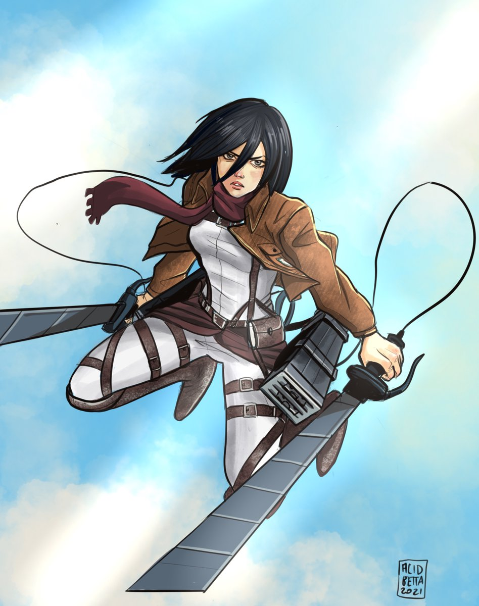 Mikasa aiutaci tu! #MikasaAckerman #AttackOnTitan
