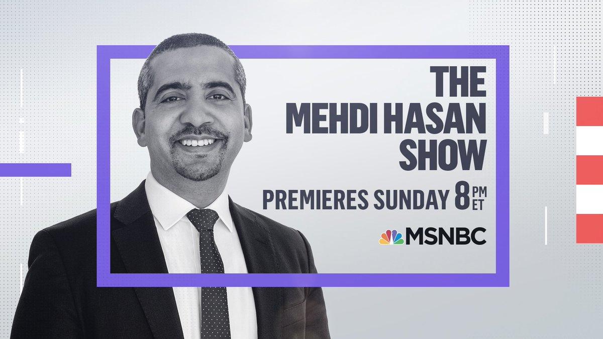 Replying to @mehdirhasan: Who's ready for the @MehdiHasanShow on @msnbc?