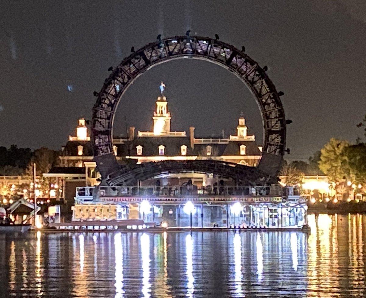 The Harmonious barges at night on the World Showcase Lagoon   #Epcot #DisneyWorld