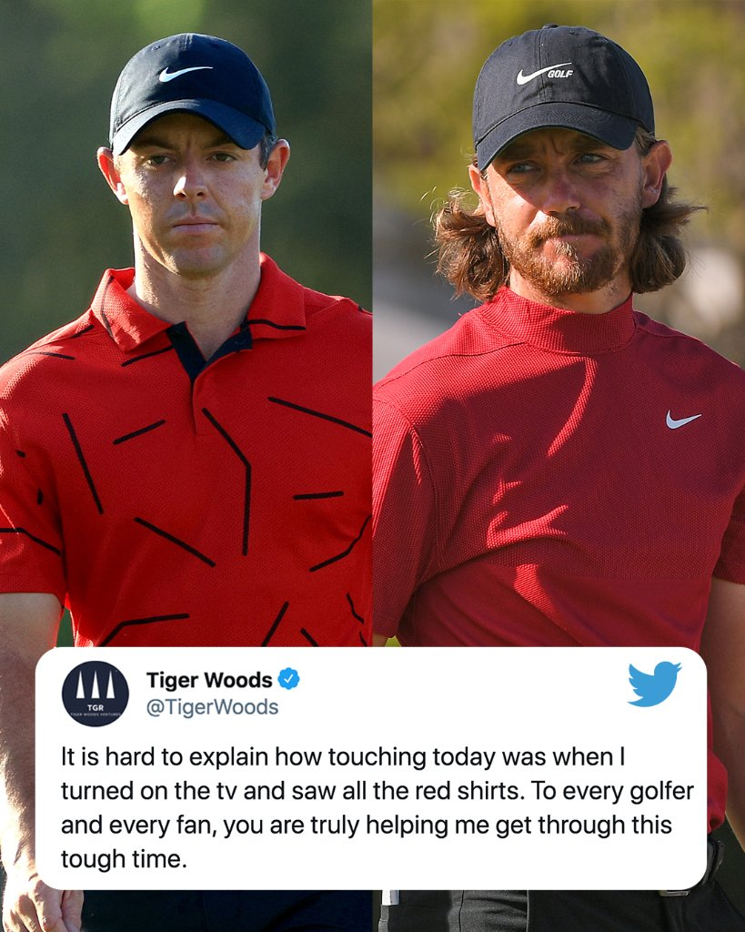 RT @SportsCenter: Tiger Woods was touched as players wore reds shirts and black pants to honor him on Sunday ❤️ https://t.co/472xdUPqnF