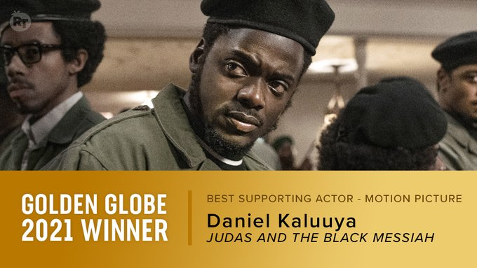 Daniel Kaluuya, Golden Globe winner for Best Supporting Actor (Picture: Rotten Tomatoes, Twitter)