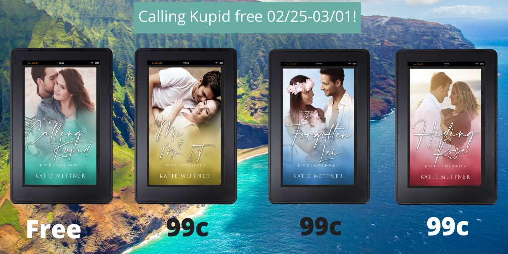 Kate Kupid is ready for a change, but she's not expecting it to change the lives of so many in Kupid's Cove.  #romance #romantic #wedding #romancenovel #romancebooks #romanceread #RomanticSuspense #Hawaii #romancereader Calling Kupid #Free 02/25-03/01!