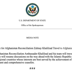 Image for the Tweet beginning: Discussions with #Taliban and others