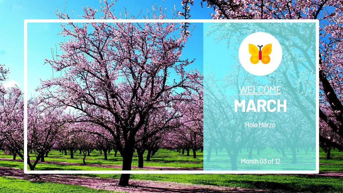 Hello March. #March #HelloMarch #WelcomeMarch #BlogAllTheTime