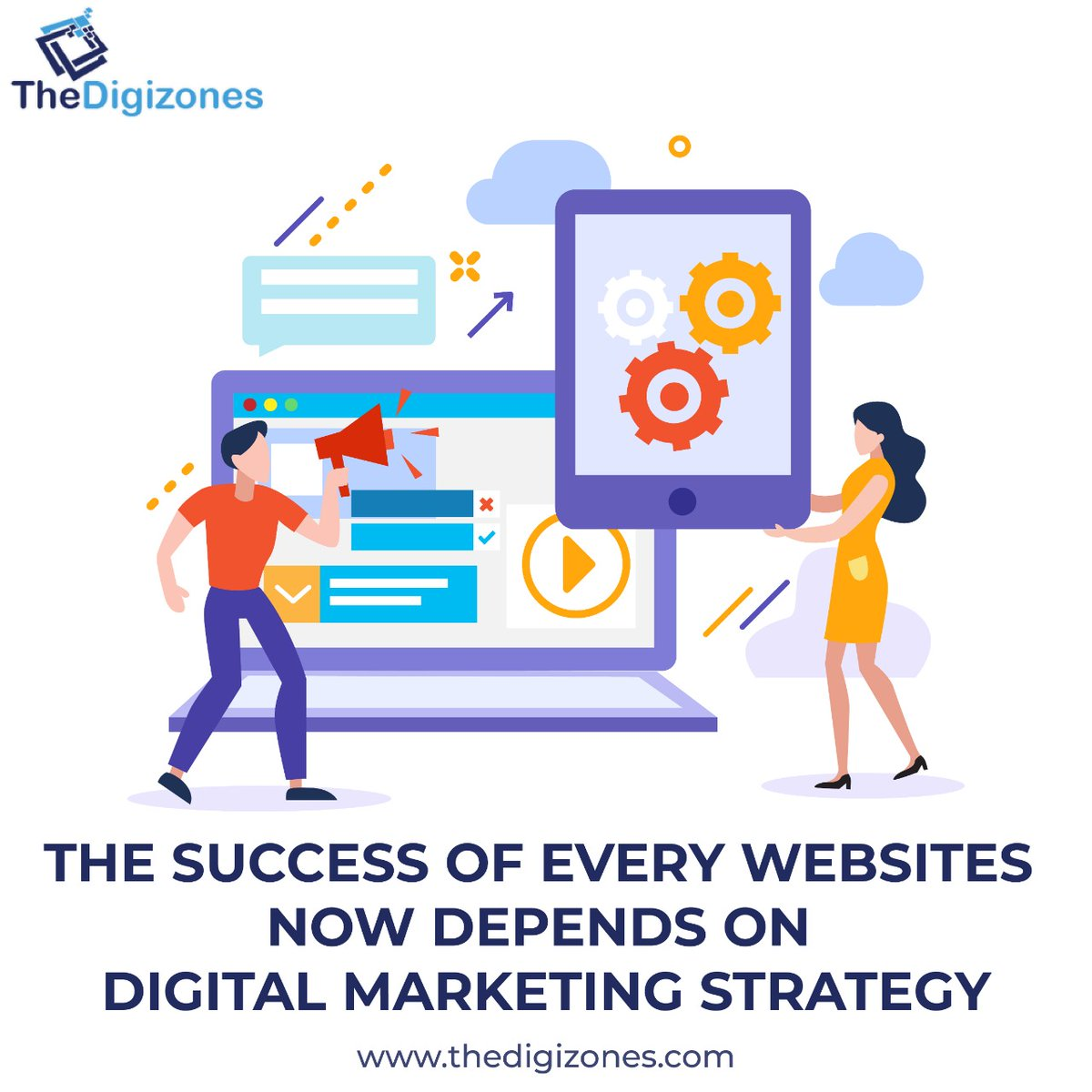 The Success of Every Websites Now Depends on Digital Marketing Strategy Website:-  Email- contact@thedigizones.com Phone no.- +1 8084002436   #websitedevelopment #webstagram #websitedesigning #ppc #seo #seoexpert #seoservices  #thedigizones #company #seo