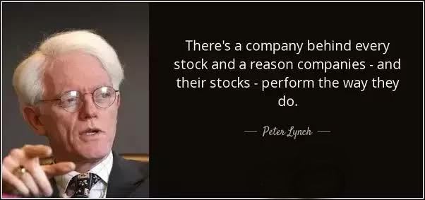 """There's a company behind every stock and a reason companies - and their stocks - perform the way they do.""  -Peter Lynch  #stockmarket  #investment #stockmarketinvesting  #trading #investor #trader #investing #traders"
