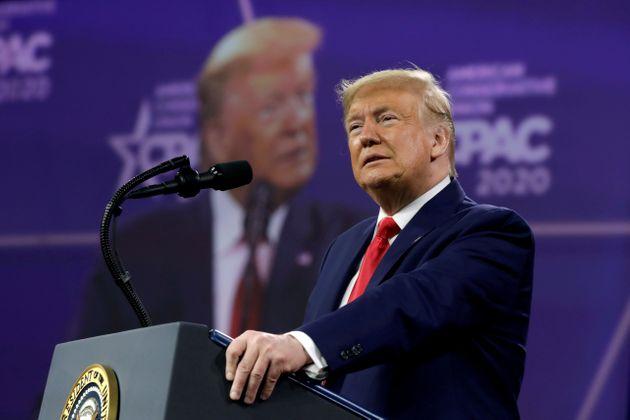 """#DonaldTrump: """"#JoeBiden a eu le premier mois le plus désastreux de l'histoire de tous les présidents américains. En un mois, on est passé de l'#Amérique d'abord à l'Amérique en dernier"""". 28 fevrier 2021, conférence annuelle de la CPAC à #Orlando en #Floride   #usa #Trump #Maga"""