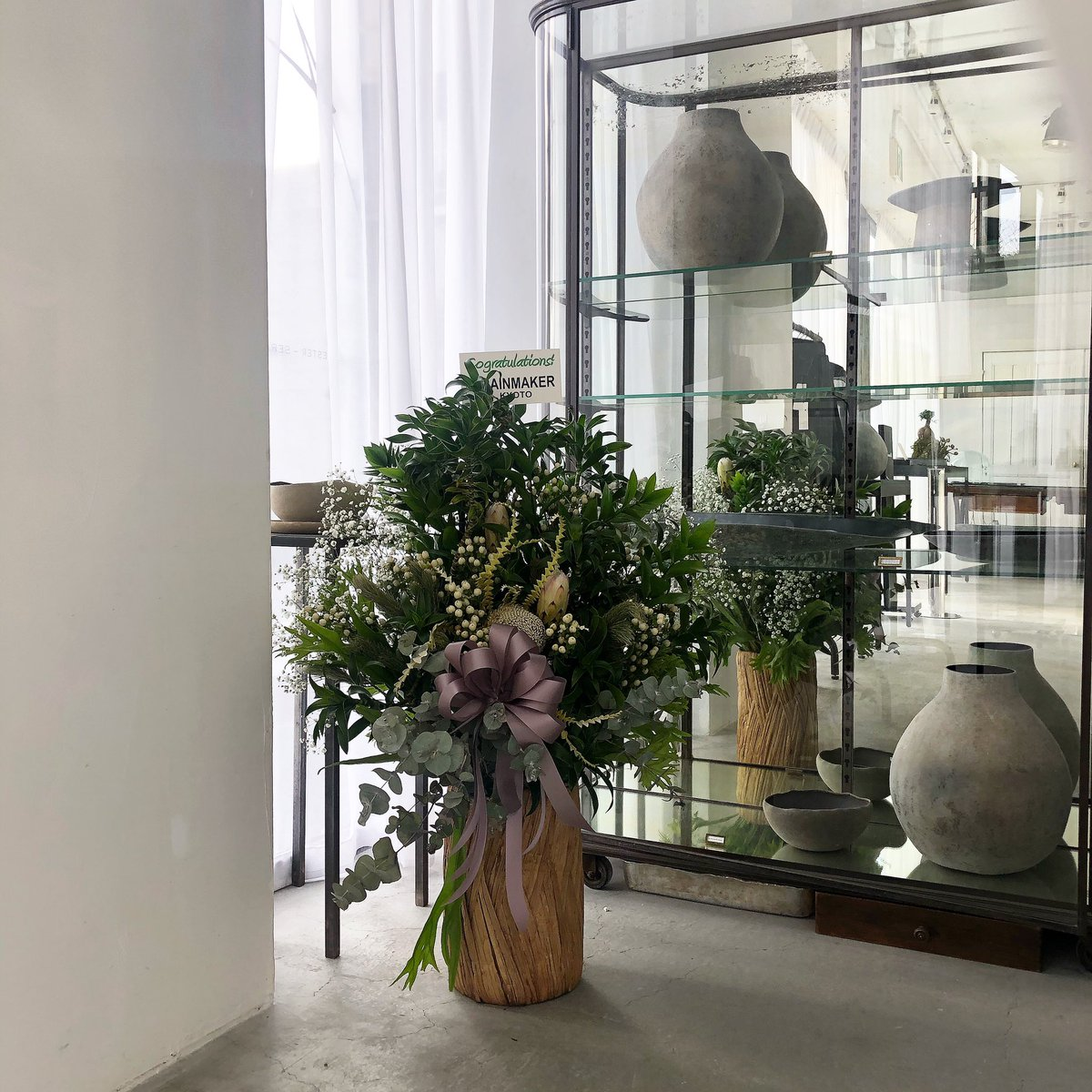 Newly opened flowers from  @RAINMAKER_KYOTO     #liftdaikanyama #art #fashion #flowers #iloveyou #flowerstagram #installation #gallery #rainmakerkyoto #kyoto #東京 #代官山
