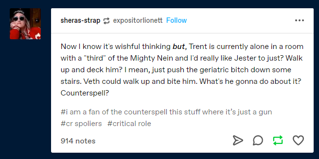 It was worth it to wake up this monday morning because it meant I got to see this post #CriticalRole