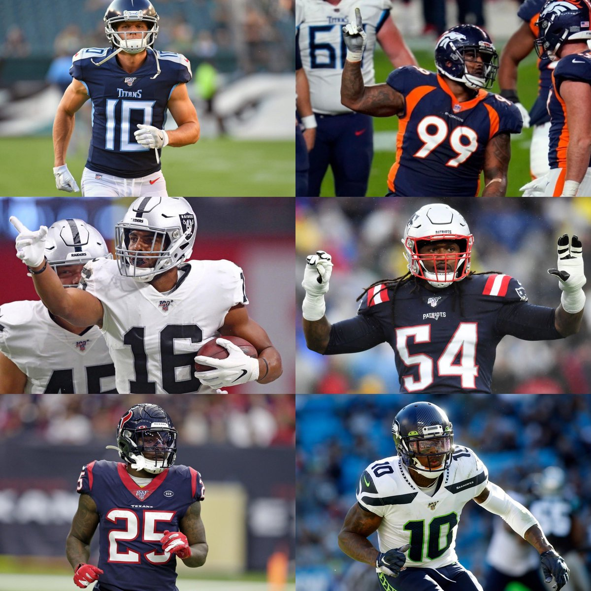 Around the #NFL:   -Titans cut WR Adam Humphries  -Broncos cut DT Jurrell Casey  -Raiders cut WR Tyrell Williams  -Patriots LB Dont'a Hightower, S Patrick Chung, and OT Marcus Cannon plan to return in 2021  -Texans cut RB Duke Johnsonn and C Nick Martin