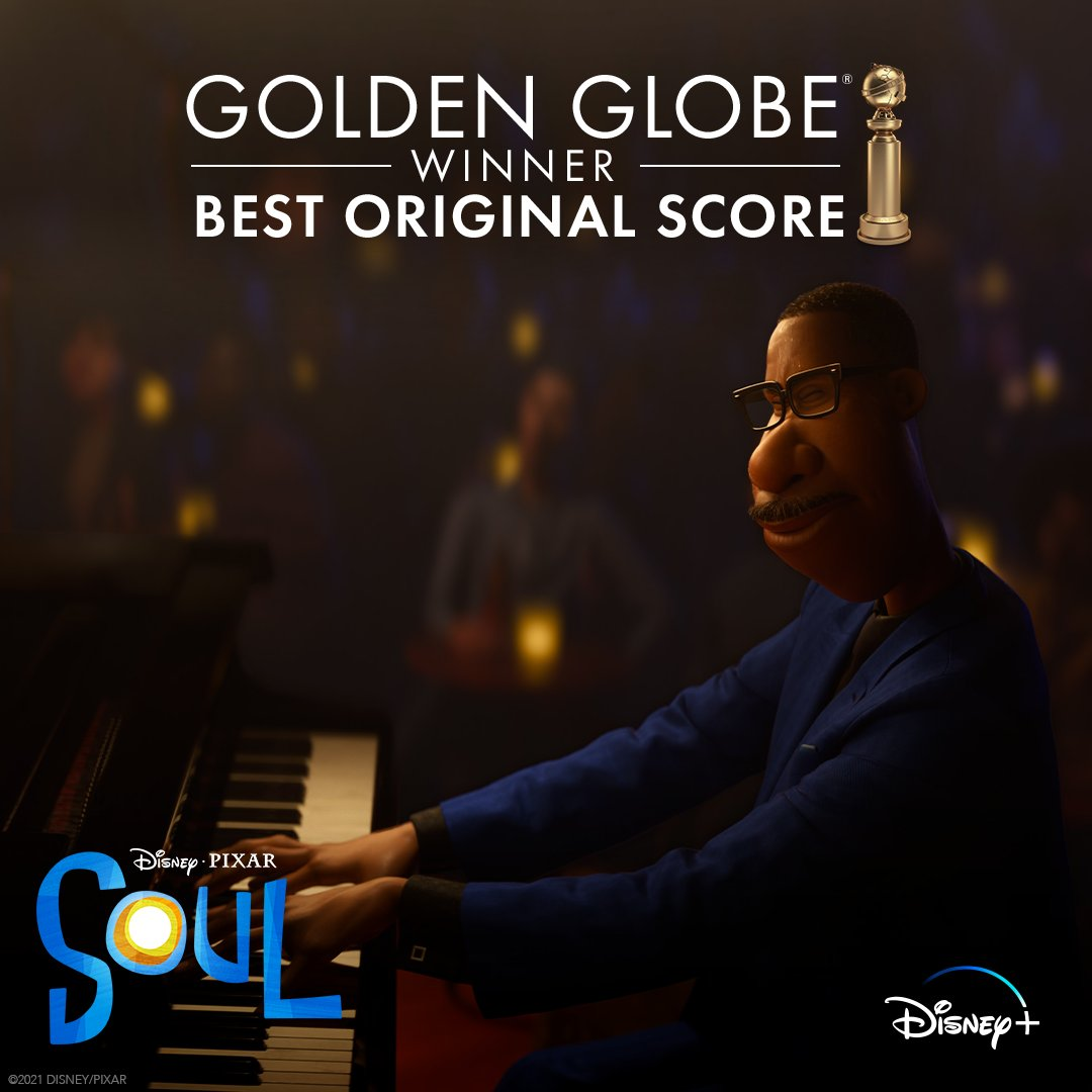 Congratulations to Trent Reznor, Atticus Ross, and Jon Batiste on their #GoldenGlobes win for Best Original Score! #PixarSoul