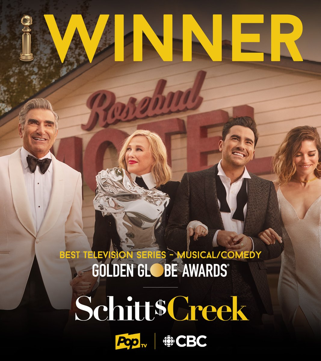 All the love and congratulations going out to Catherine O'Hara for her win tonight, and to the entire Schitt's Creek cast and crew for the team win! ✨💛✨ https://t.co/LF8Q1Vd8Hj
