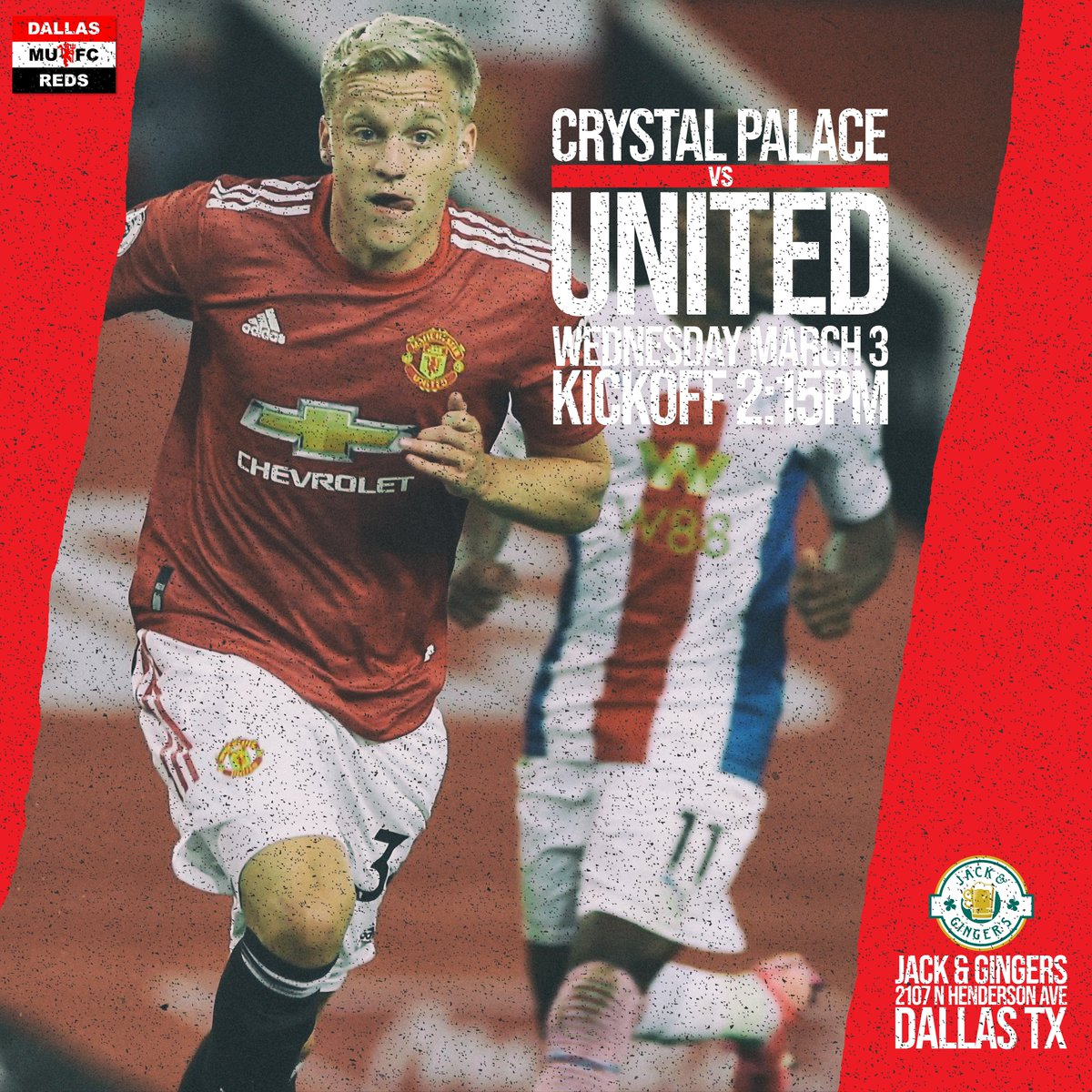 Games keep coming thick and fast and next up is #CRYMUN in the @premierleague  Come join the official #MUSC of #DFW #jacks #Dallas #Texas this Wednesday afternoon. Kickoff at 2:15pm. Event in bio - Click 'Going' and share with your friends. #UTFR #MUFC #DallasReds @PLinUSA
