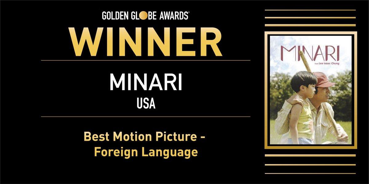test Twitter Media - Minari, una producción estadounidense ampliamente hablada en coreano, gana el Globo de Oro a la mejor película en lengua extranjera en los Golden Globes. En esa categoría competía La Llorona.Foto @goldenglobes https://t.co/ttMMbSSNCl